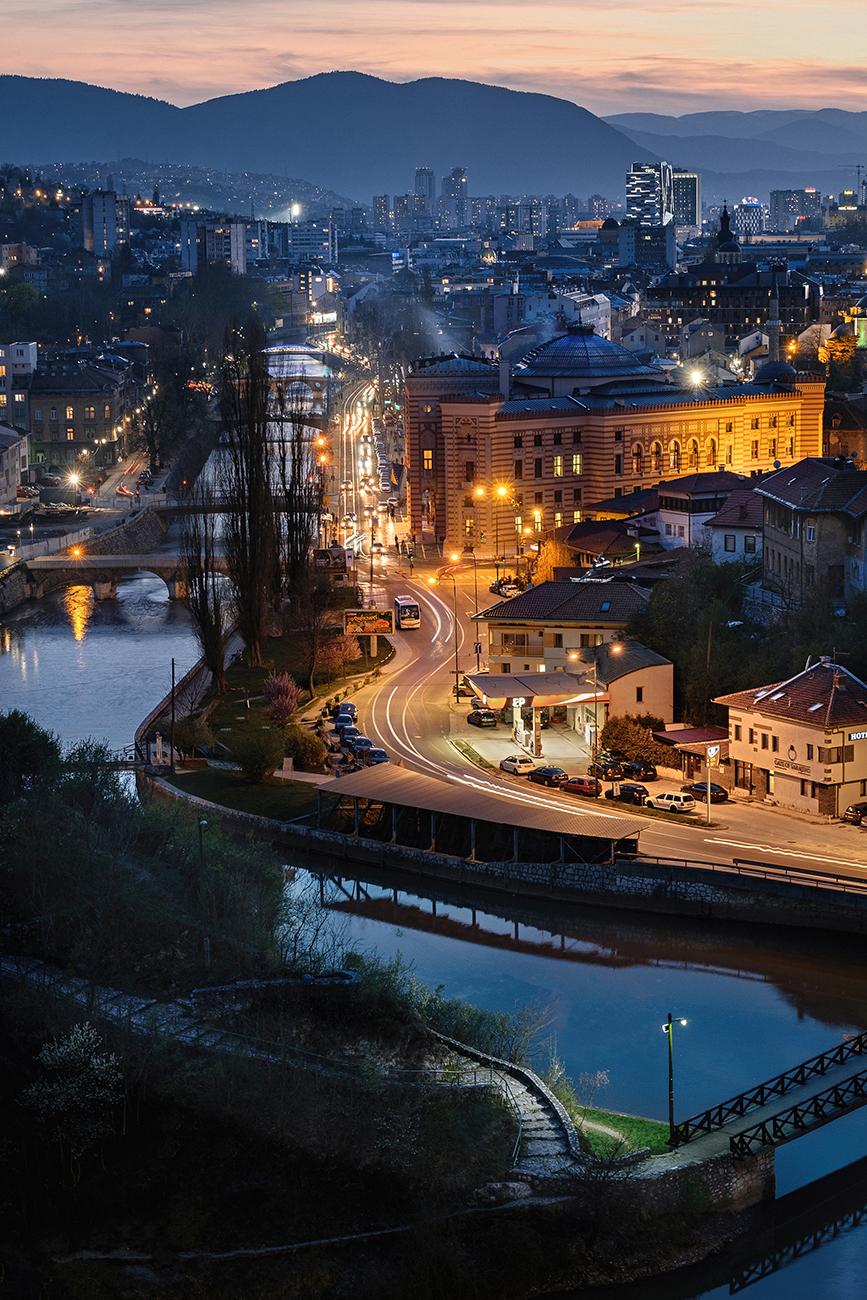 Blue hour in Sarajevo